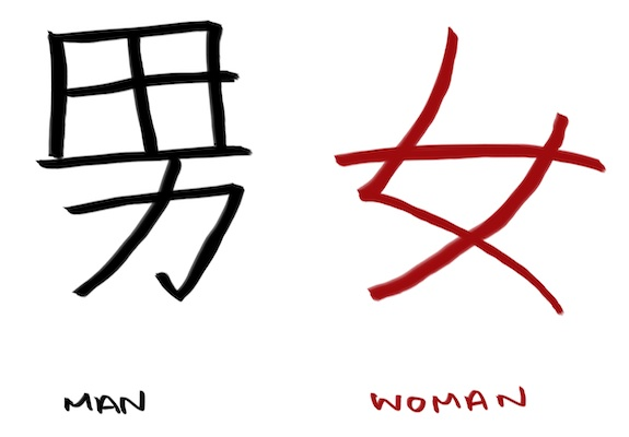 kanji-for-man-and-woman